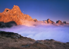 Mountains, Moon and Fog